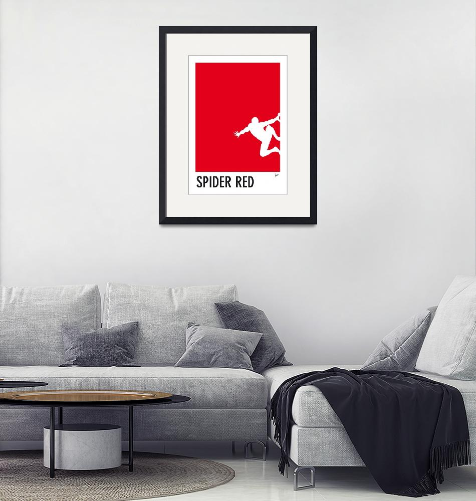 """""""My Superhero 04 Spider Red Minimal poster""""  by Chungkong"""