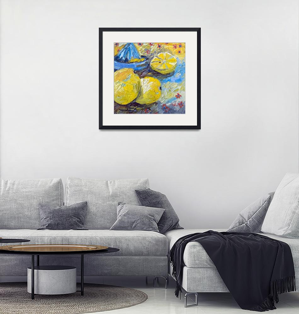 """""""Lemons Impressionist Oil Still Life""""  (2012) by GinetteCallaway"""