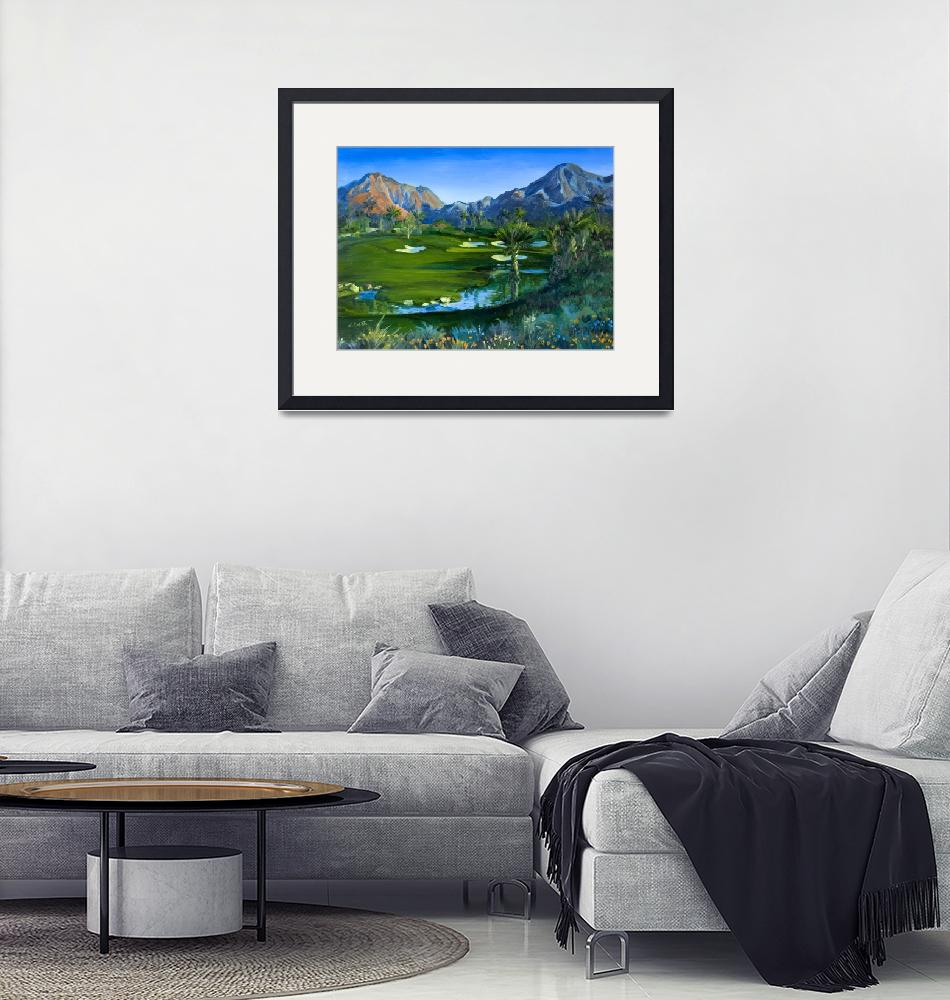 """Golf Indian Wells Celebrity Course #14 Print""  (2007) by KeatingArt"