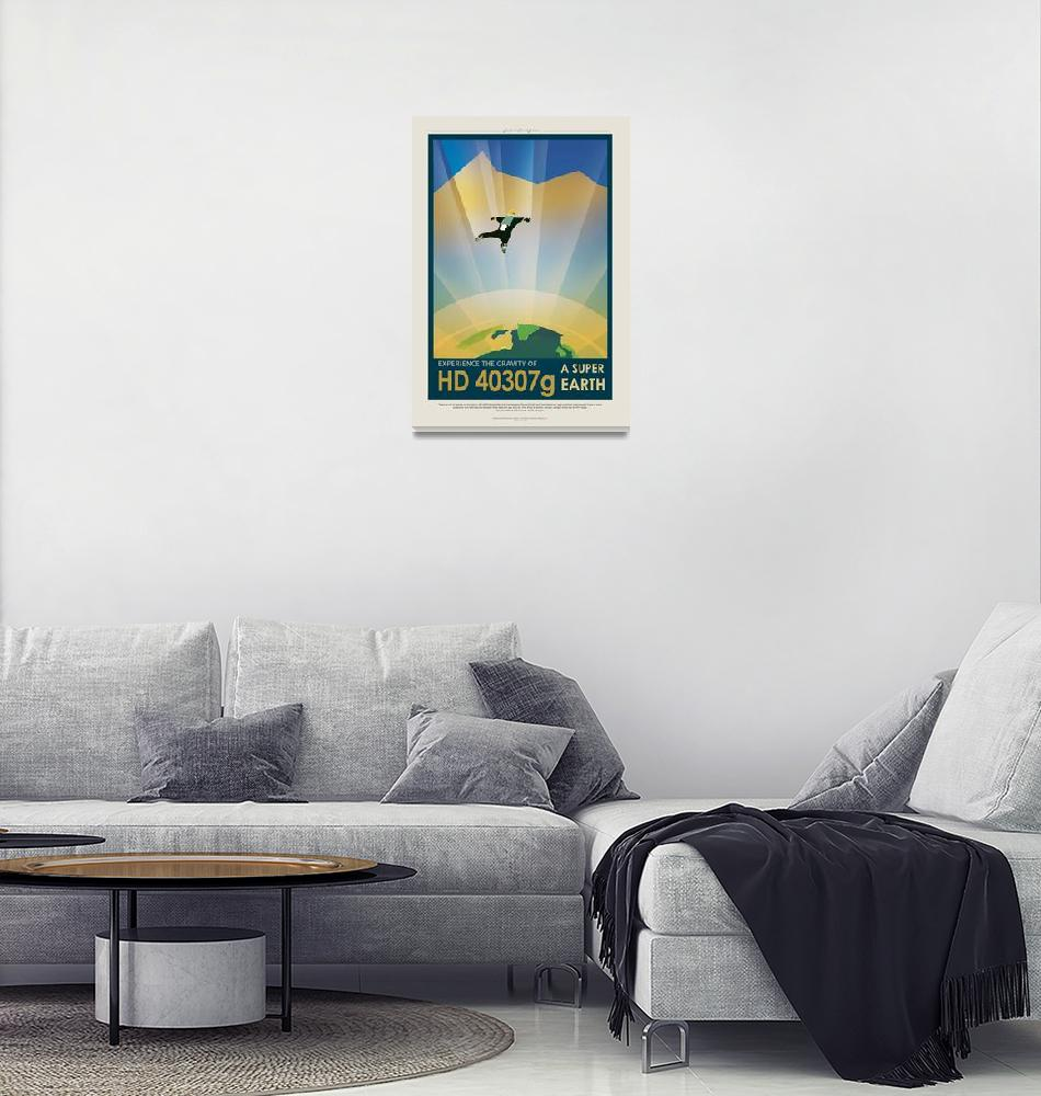 """""""NASA Experience the Gravity Space Travel Poster""""  by FineArtClassics"""