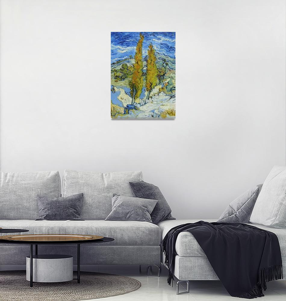 """The Poplars at Saint-Rémy Vincent Van Gogh""  by FineArtClassics"
