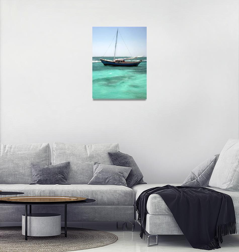 """""""Anchored in Turquoise Waters""""  (2009) by b_r1s1n9"""