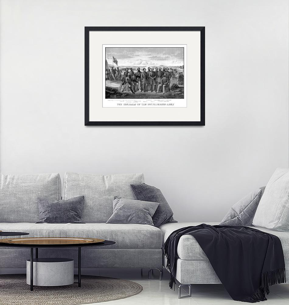 """""""Vintage Civil War print featuring sixteen of The C""""  by stocktrekimages"""