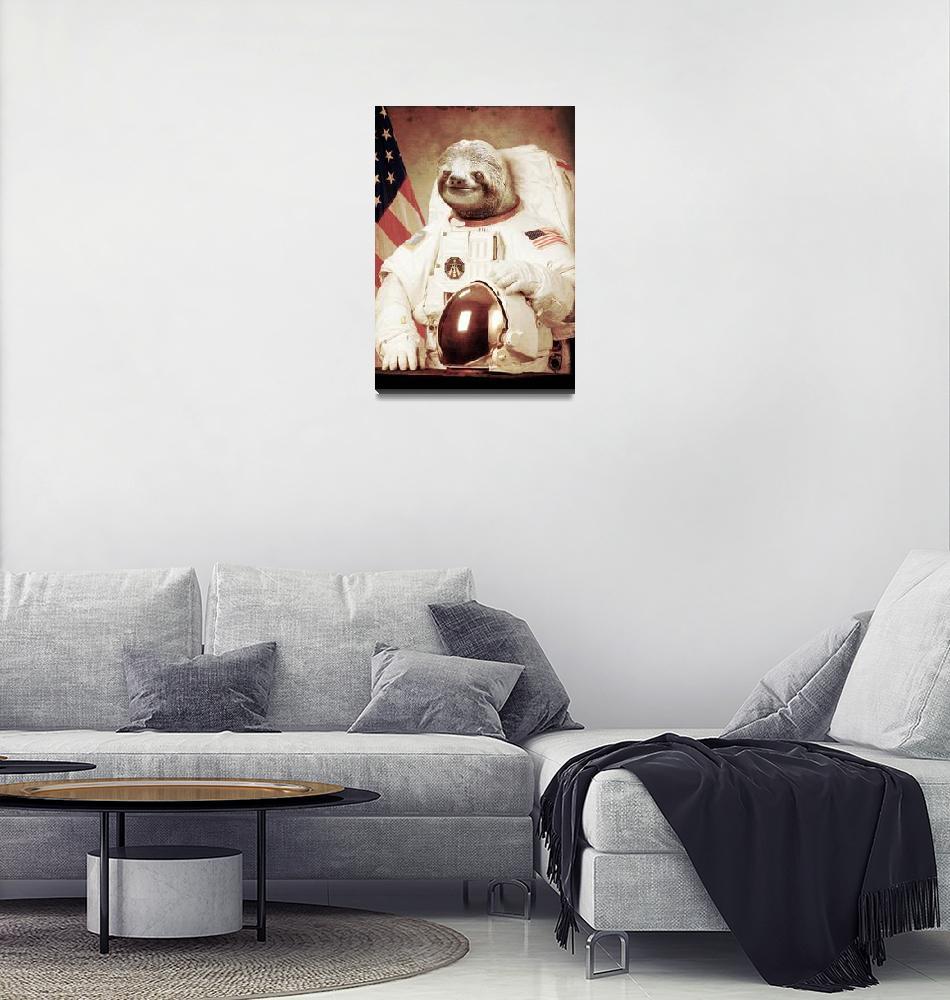 """Astronaut Sloth""  (2012) by BakusPT"