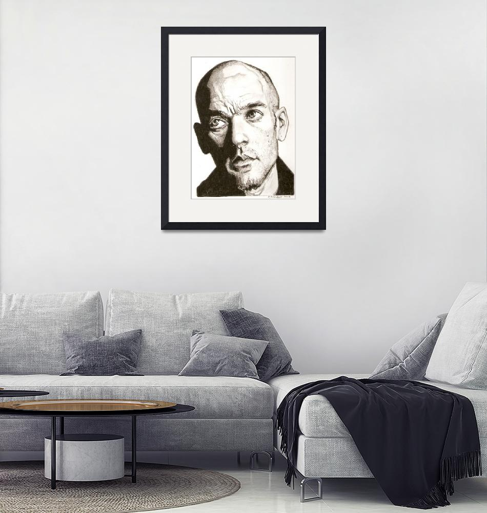 """""""Michael Stipe drawing""""  (2013) by RobCrandall"""