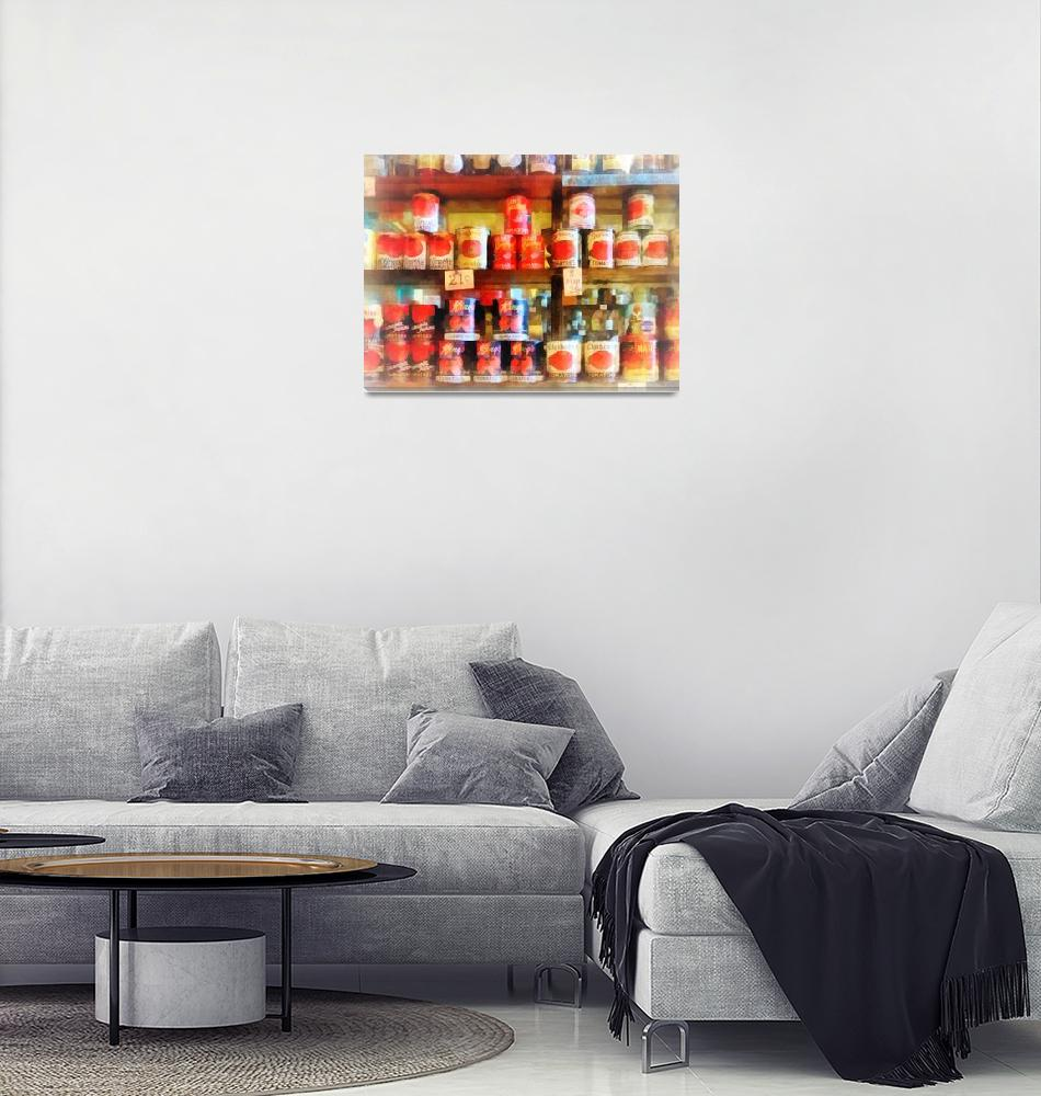 """""""Canned Tomatoes""""  (2012) by susansartgallery"""