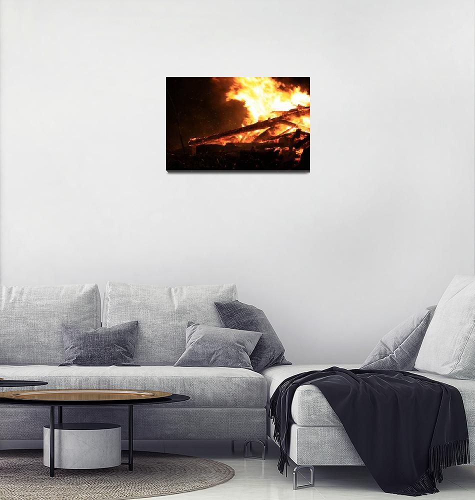 """North Beach Bonfire 4""  (2009) by dmarshall"