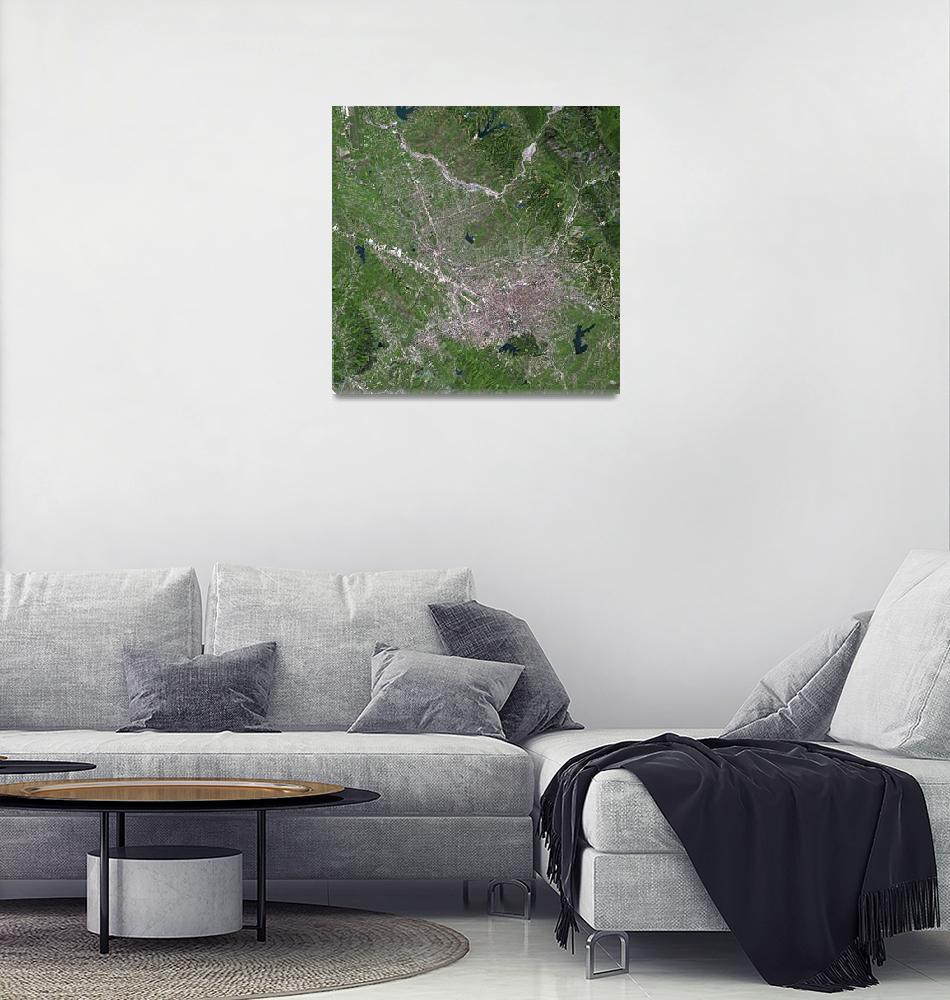 """Tirana (Albania) : Satellite Image""  (2004) by astriumgeo"