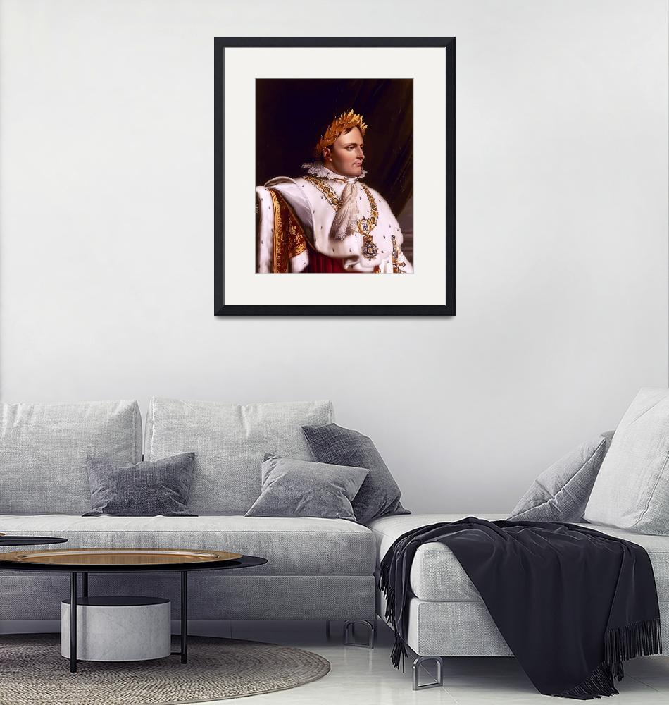 """Digitally restored vector artwork of Napoleon Bona""  by stocktrekimages"