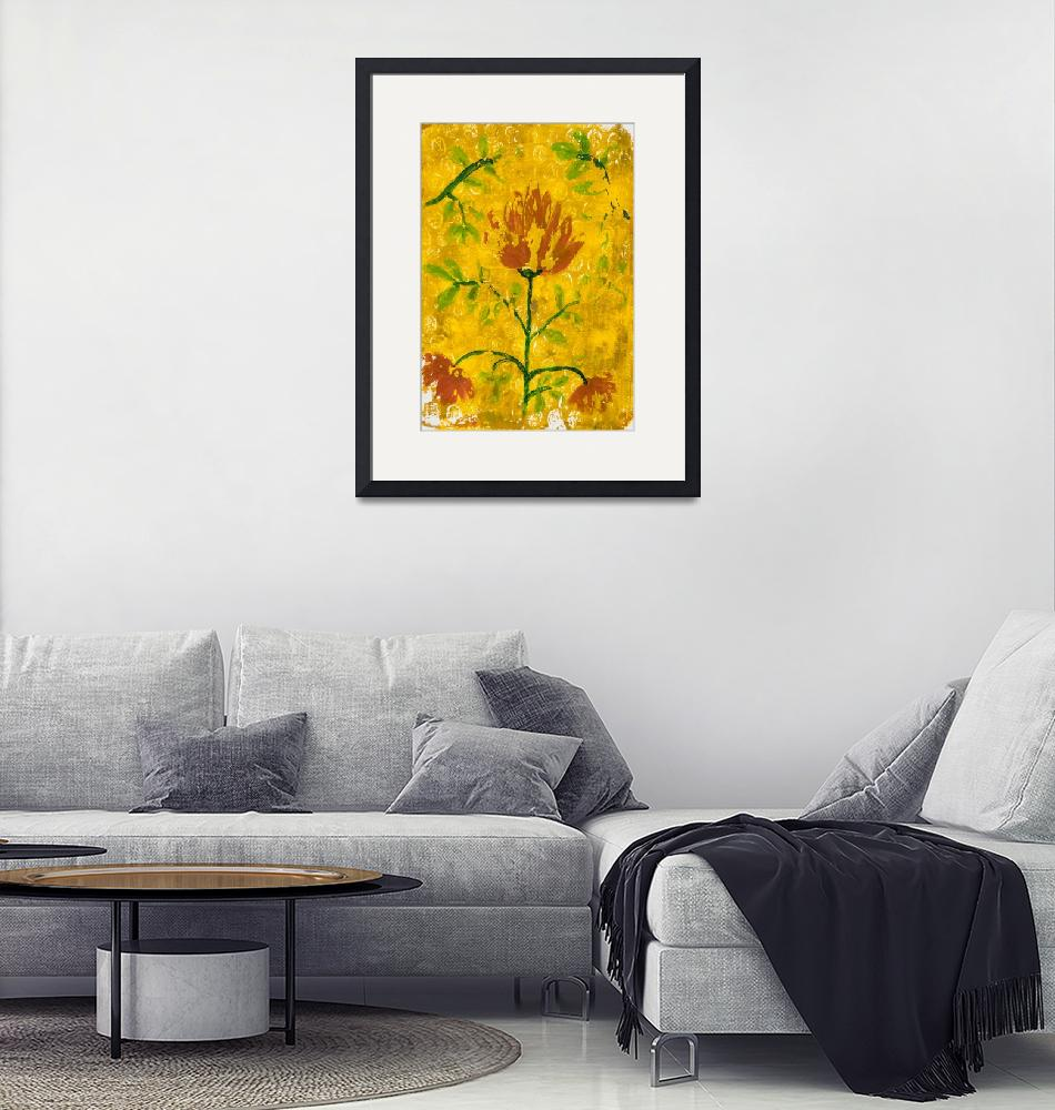 """""""Abstract floral gel mono print""""  (2018) by Ruthsartwork"""