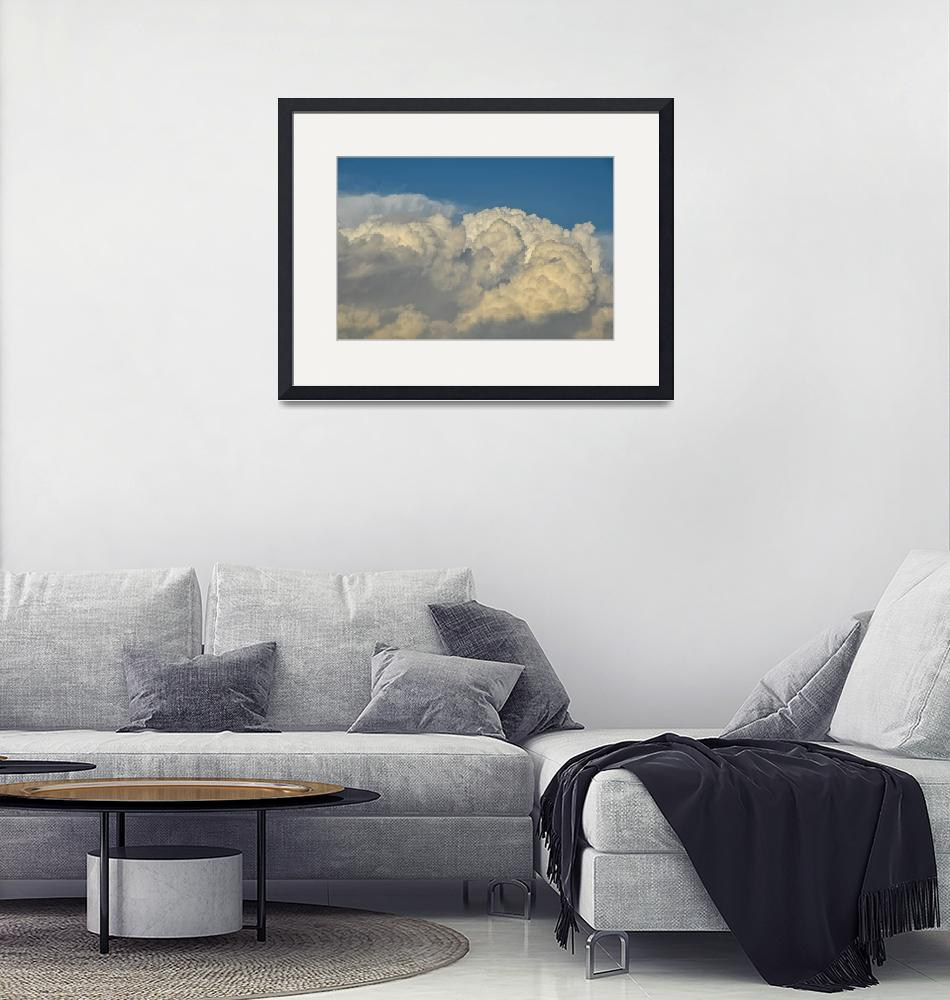 """""""Clouds nature sky blue white fluffy storm power""""  (2017) by callumjames"""
