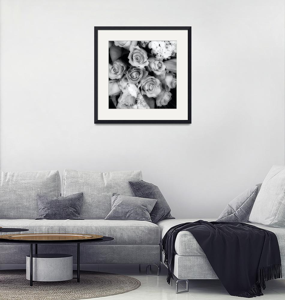 """""""Soft Black and White Bouquet""""  by SplitWindow"""