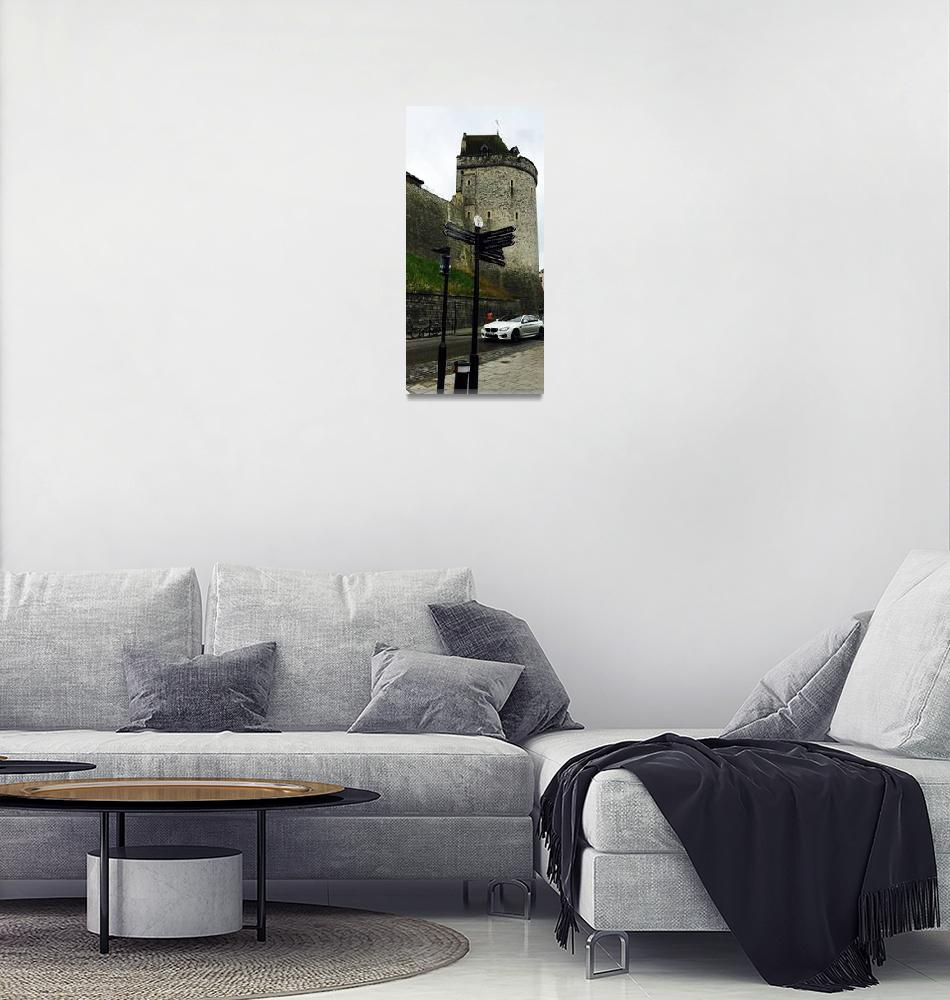 """Windsor Turret and Signage""  by Artsart"