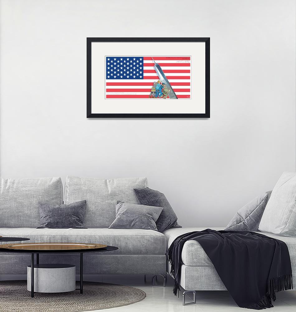 """""""Daddys Home 9/11 Tribute""""  by RubinoFineArt"""