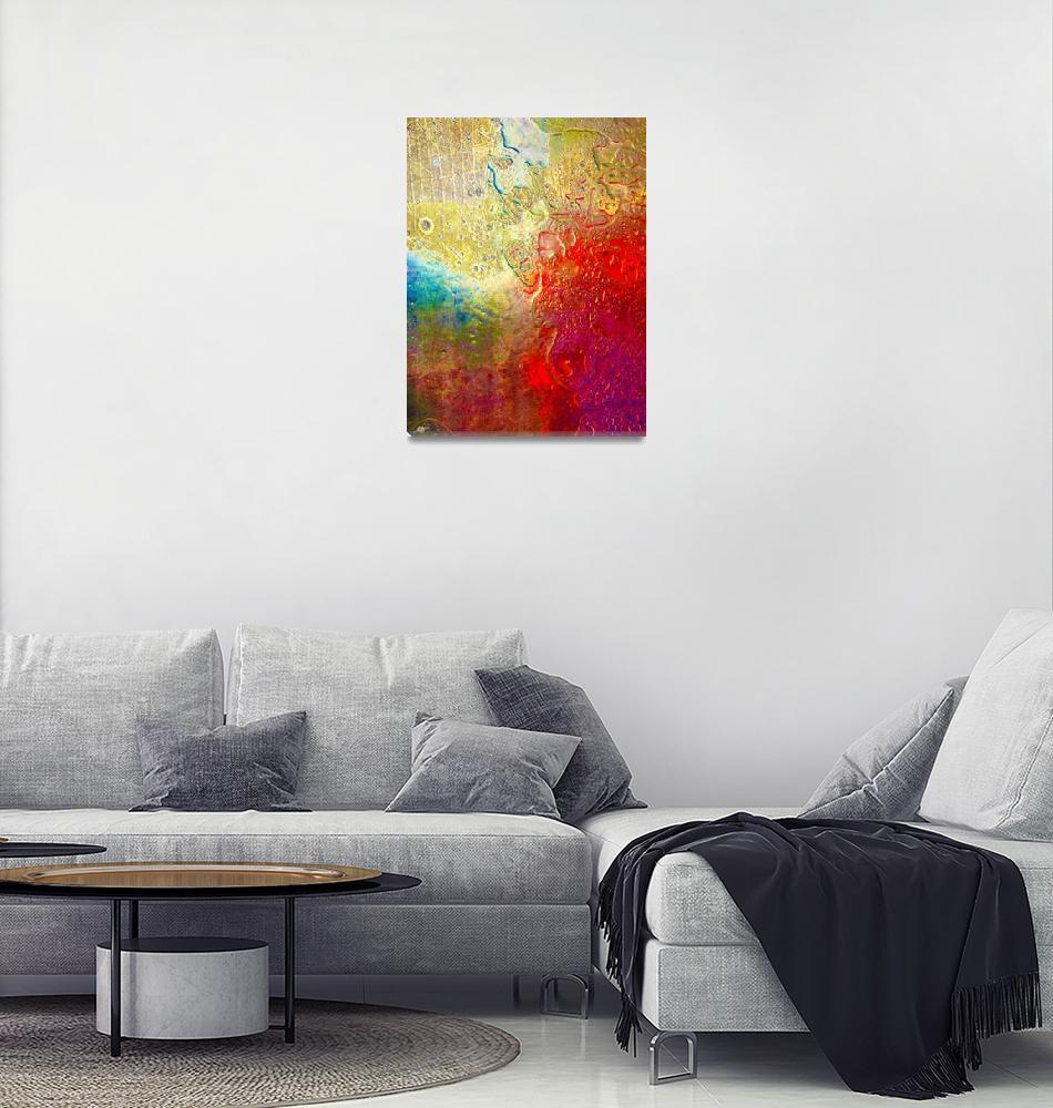 """Aqua Metallic Series Rainbow""  (2017) by RubinoFineArt"