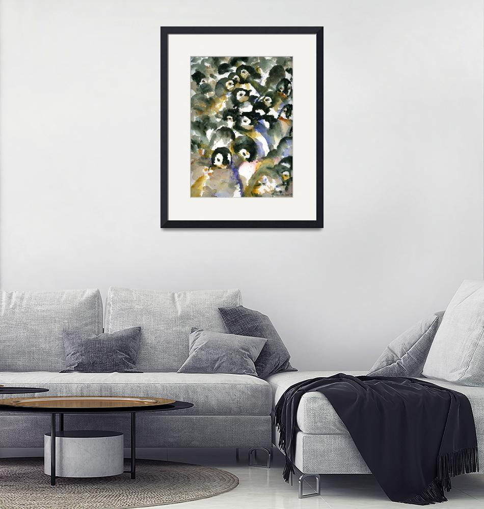 """Penguin Nursery II, Abstract Watercolor Art""  by schulmanart"