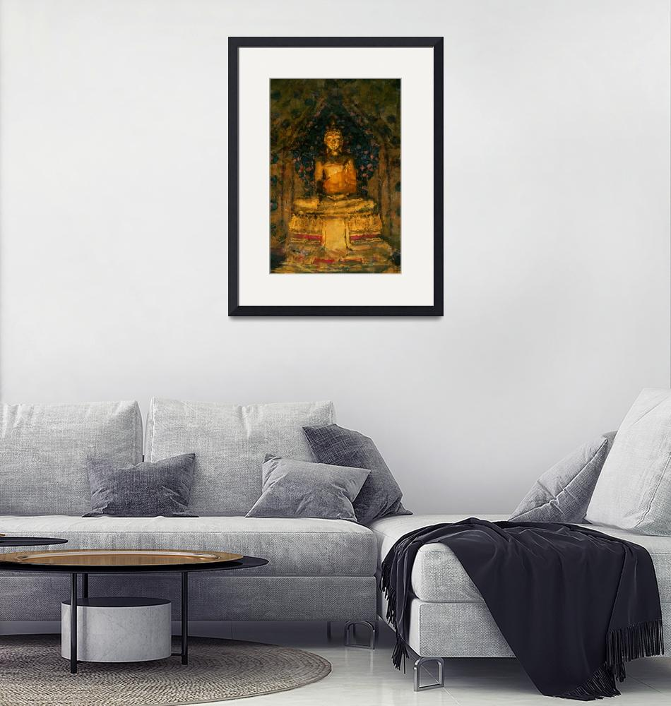 """Golden Buddha""  (2012) by StefanOlivier"