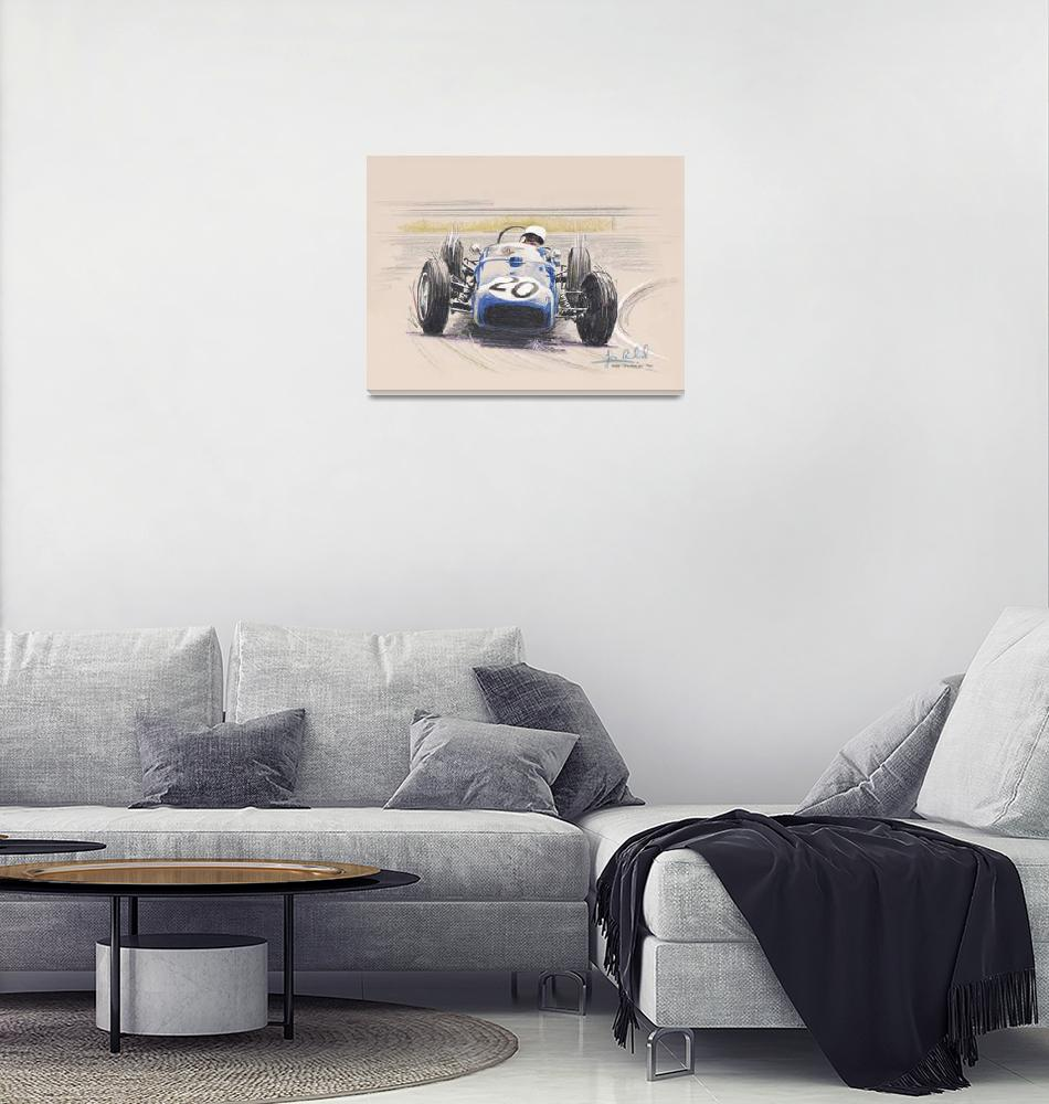 """Stirling Moss, Lotus 18 at Monaco 1961""  by jamesrowland"