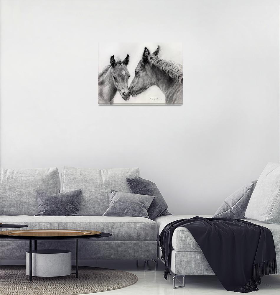 """Two foals""  by HaileyWatermedia"