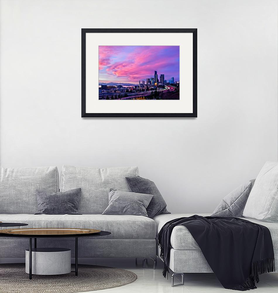 """""""City In Pink""""  (2010) by Surrealize"""