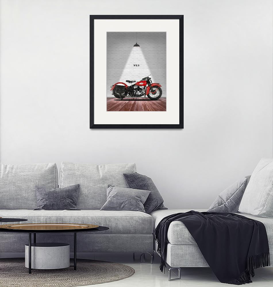 """""""The Harley WLD Motorcycle 1941""""  by mark-rogan"""