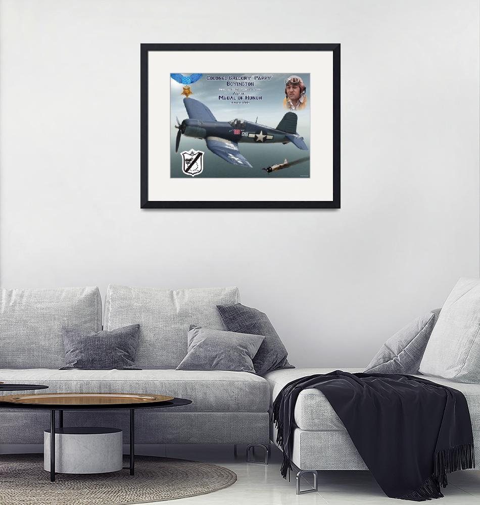 """""""Medal of Honor Pappy Boyington""""  (2015) by milmerchant"""