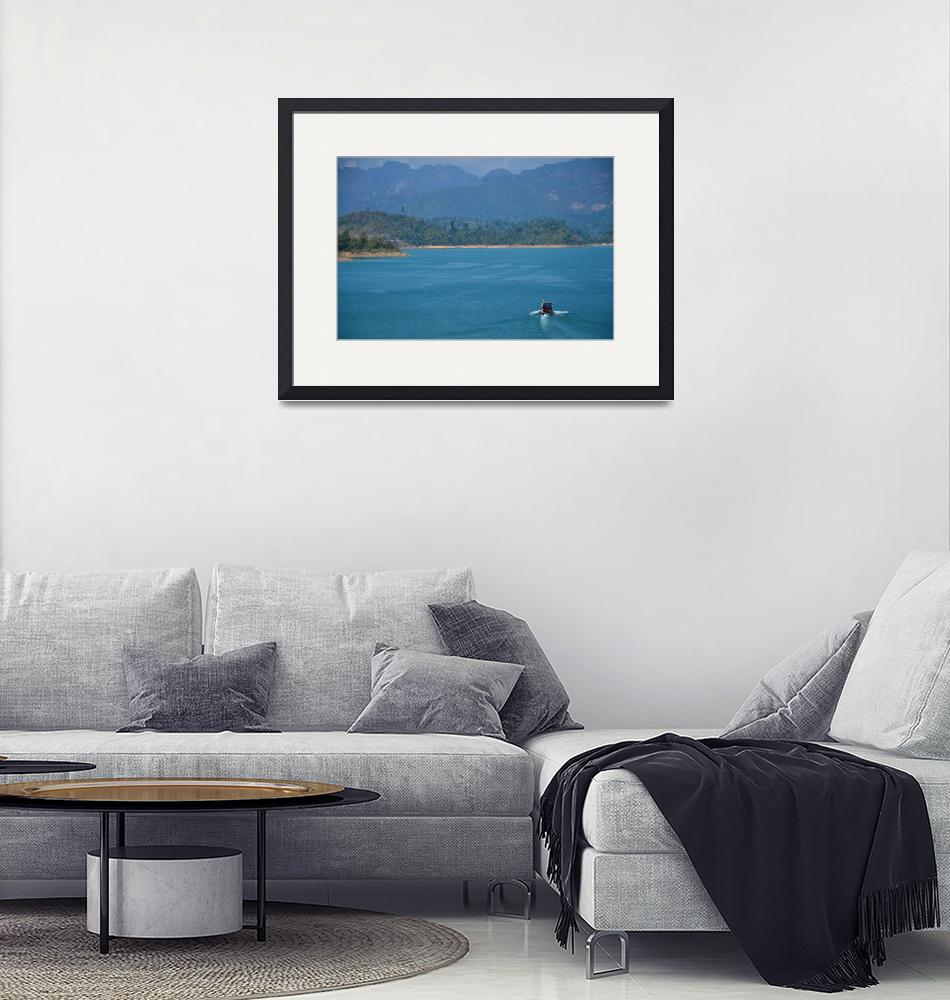 """""""The view of the lake and boat""""  (2013) by danieltoryfter"""