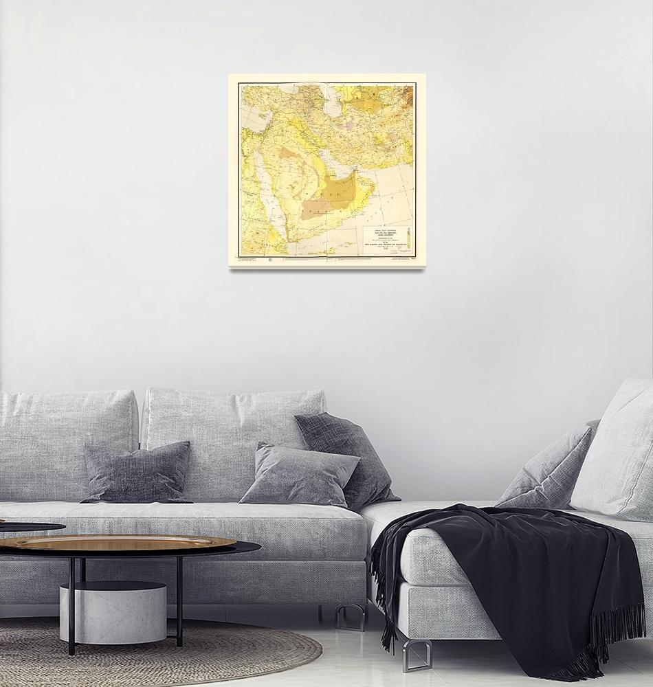 """""""Middle East Map (1955)""""  by ArtHistory"""