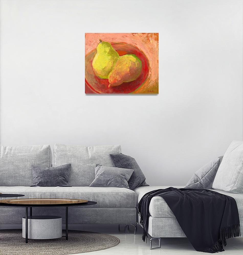 """""""Two Pears in Repose""""  (2009) by JENLO"""