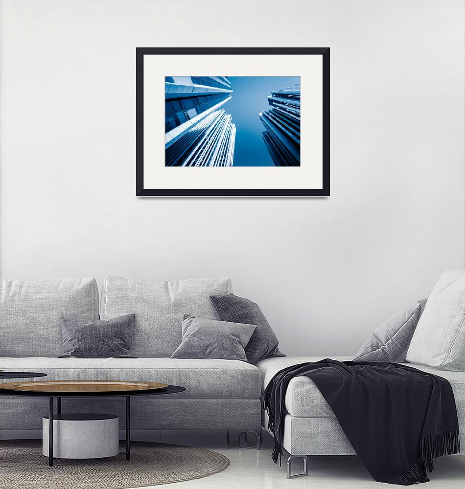 """""""Skyscrapers Architecture Framed Photo Print""""  by buddakats1"""