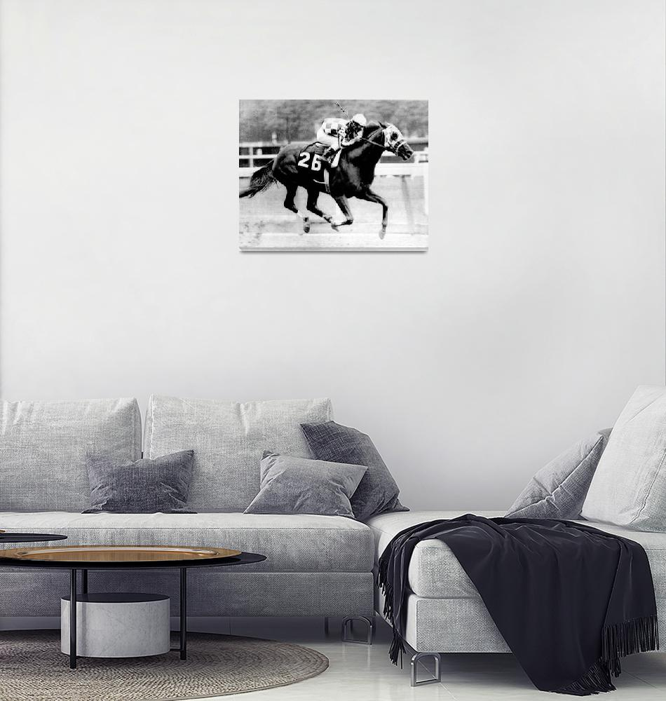 """Secretariat Vintage Horse Racing #12""  by RetroImagesArchive"