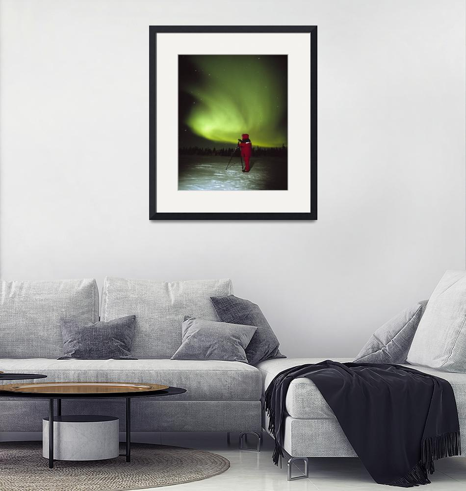 """""""Person Watching the Aurora Borealis""""  by Panoramic_Images"""
