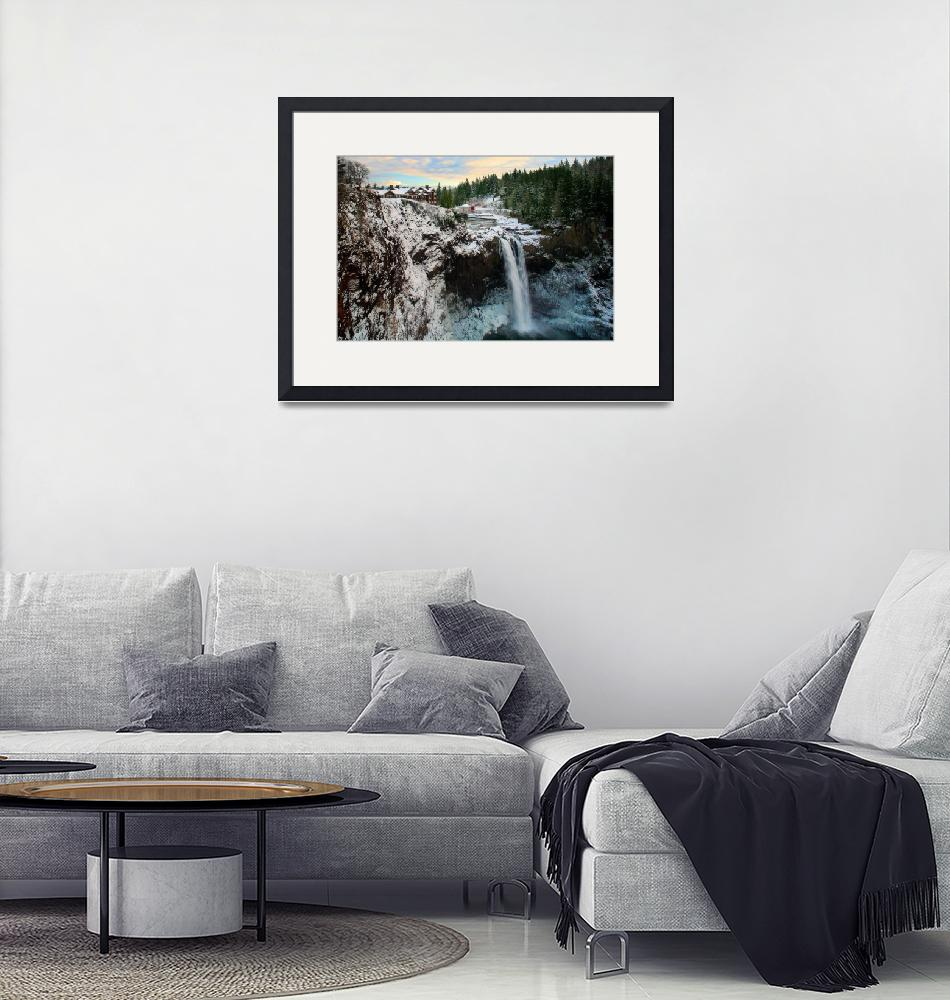 """""""Frozen Snoqualmie Falls""""  (2008) by Inge-Johnsson"""