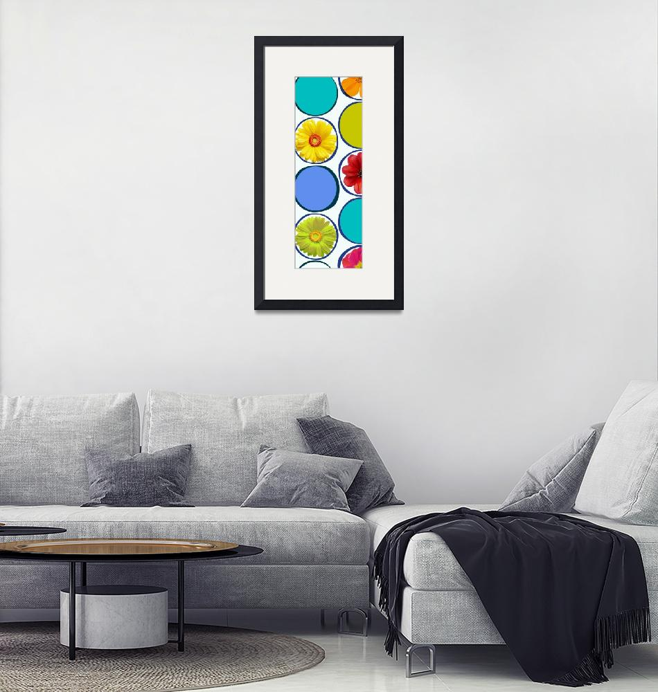 """ORL-2121-1 Circle patern with flowers 30X86 2""  by Aneri"