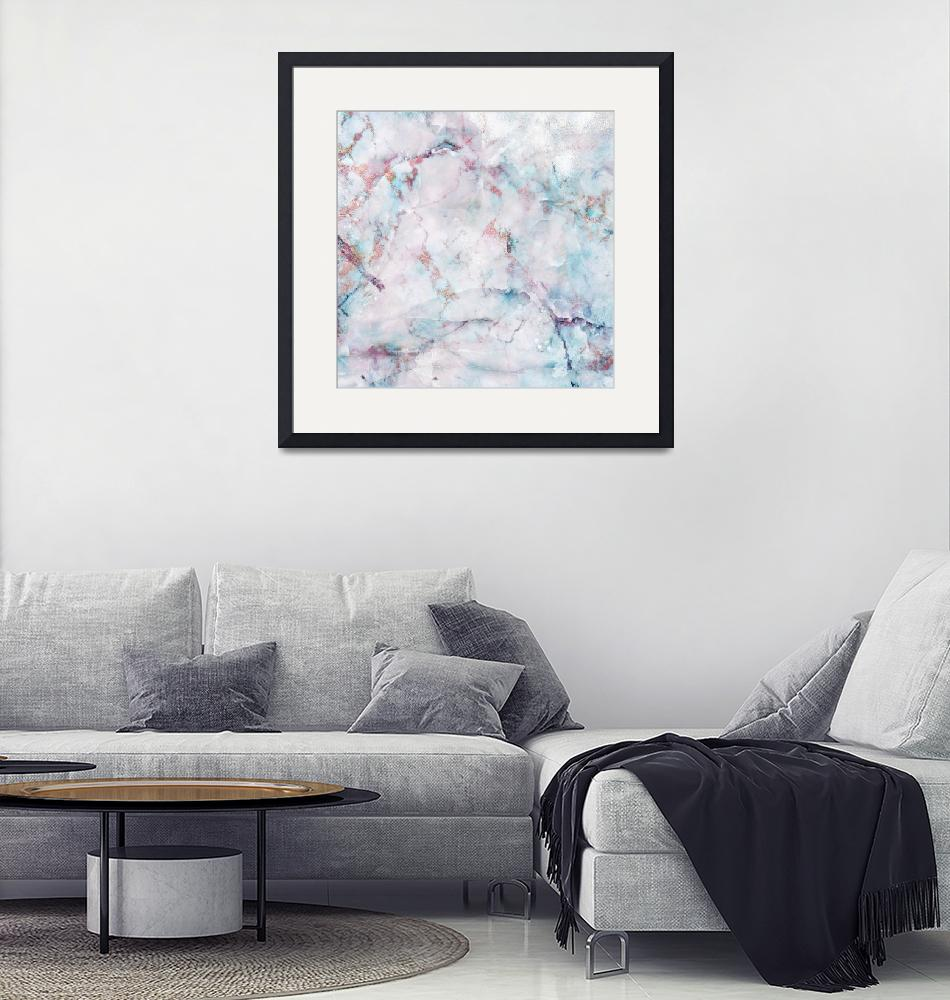 """""""Pink And Blue Marble""""  by fineartgallery"""