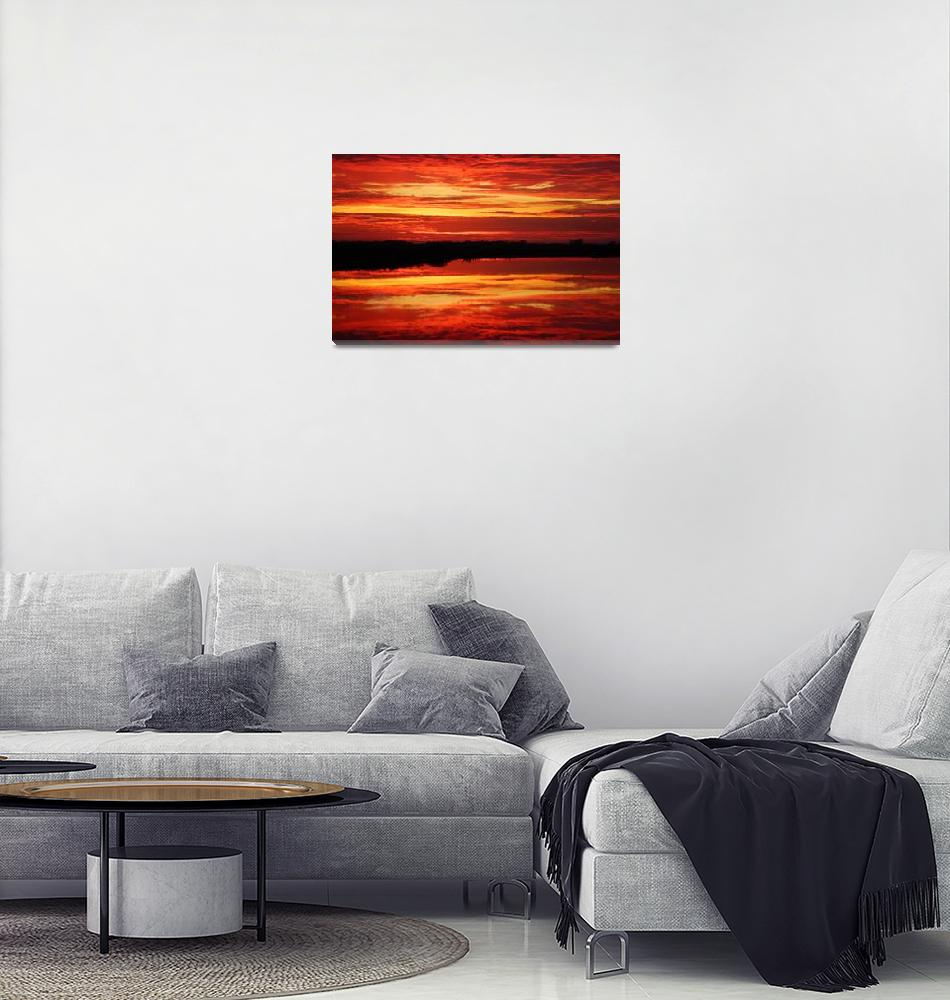 """Sunset on Botkers Lake""  (2012) by cameragal"