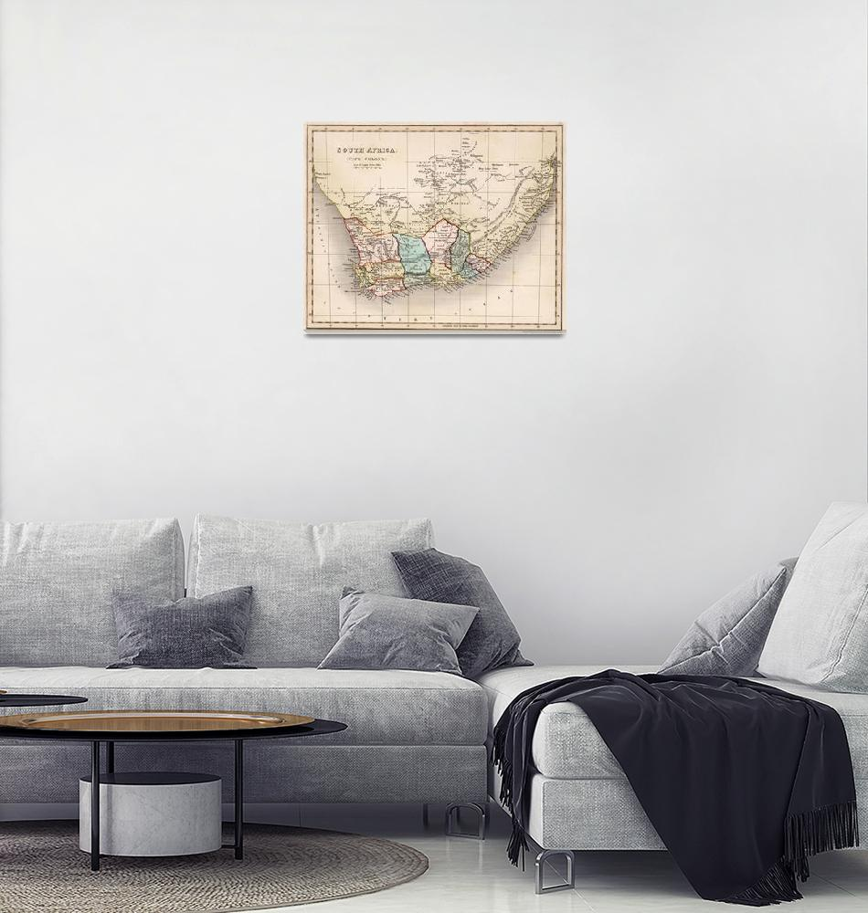 """""""Vintage Map of South Africa (1832)""""  by Alleycatshirts"""
