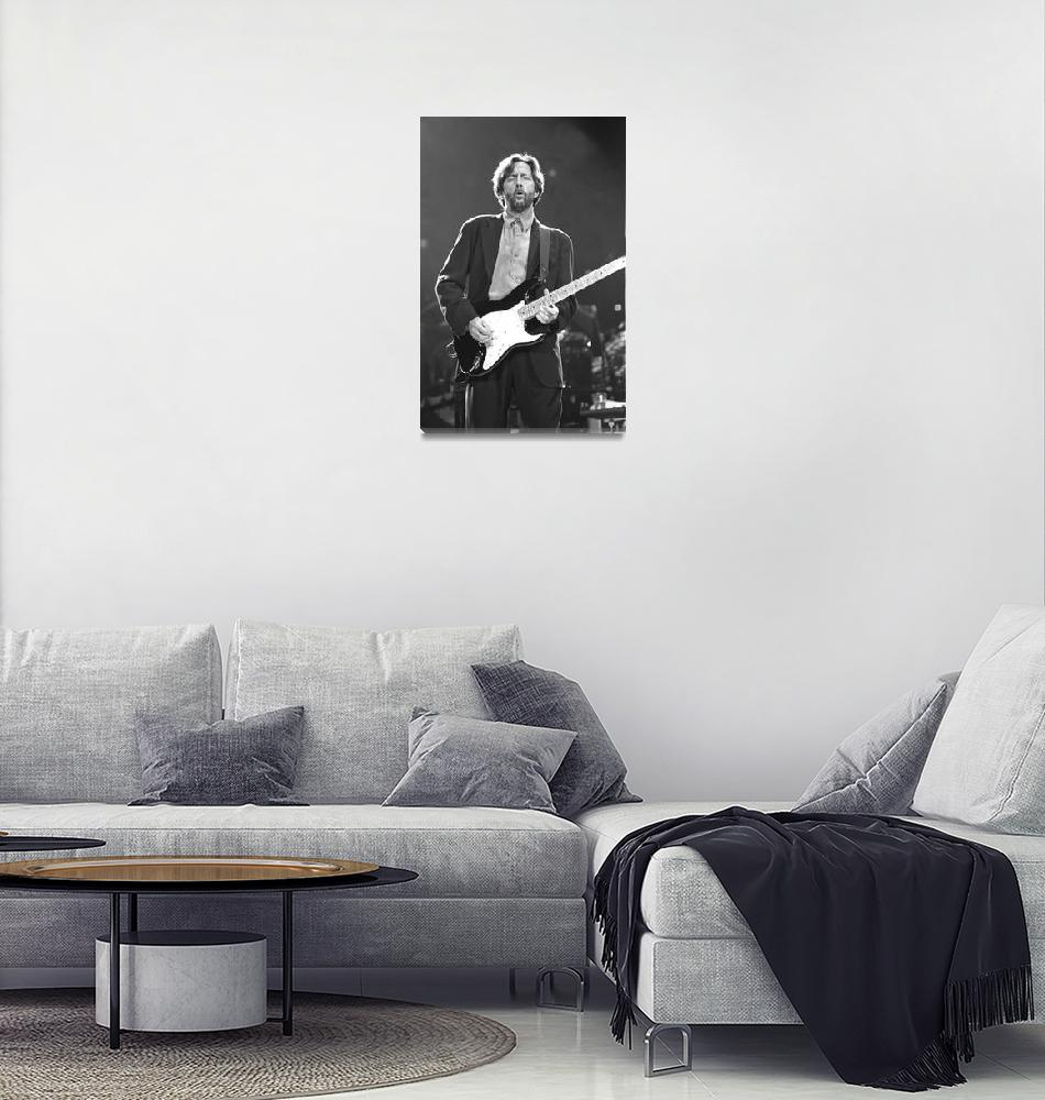 """Guitarist Eric Clapton""  by FrontRowPhotographs"