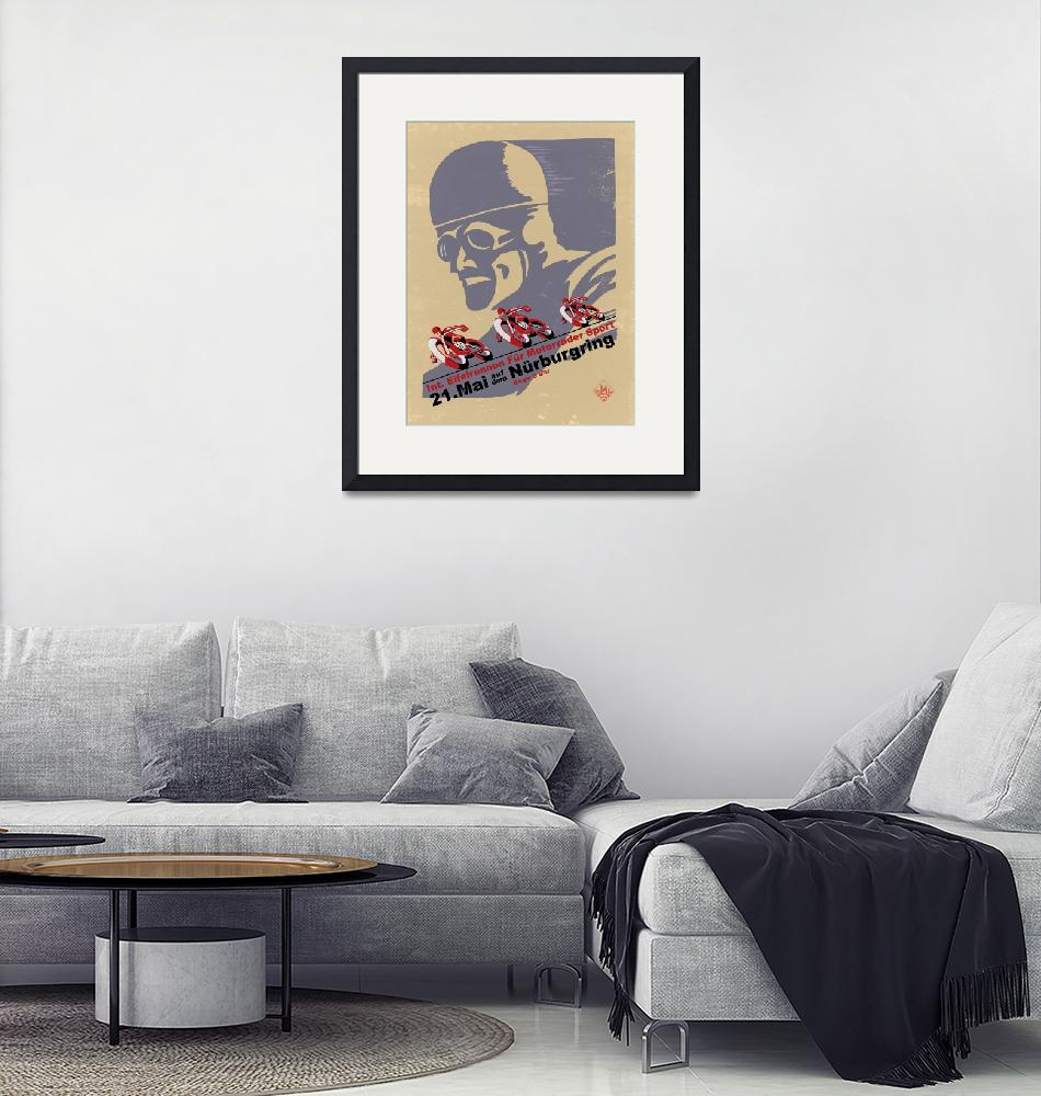 """Nurburgring Vintage Motorcycle Racing Poster""  by mark-rogan"