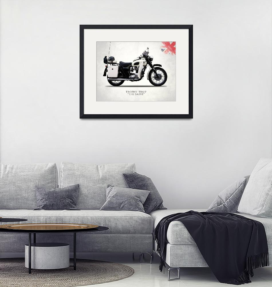 """Triumph Trophy TR6P The Saint""  by mark-rogan"