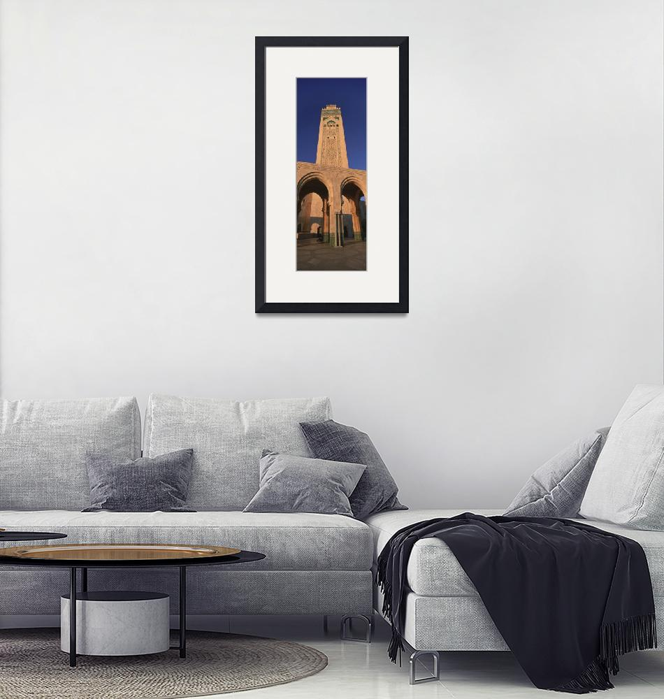 """Low angle view of the tower of a mosque""  by Panoramic_Images"