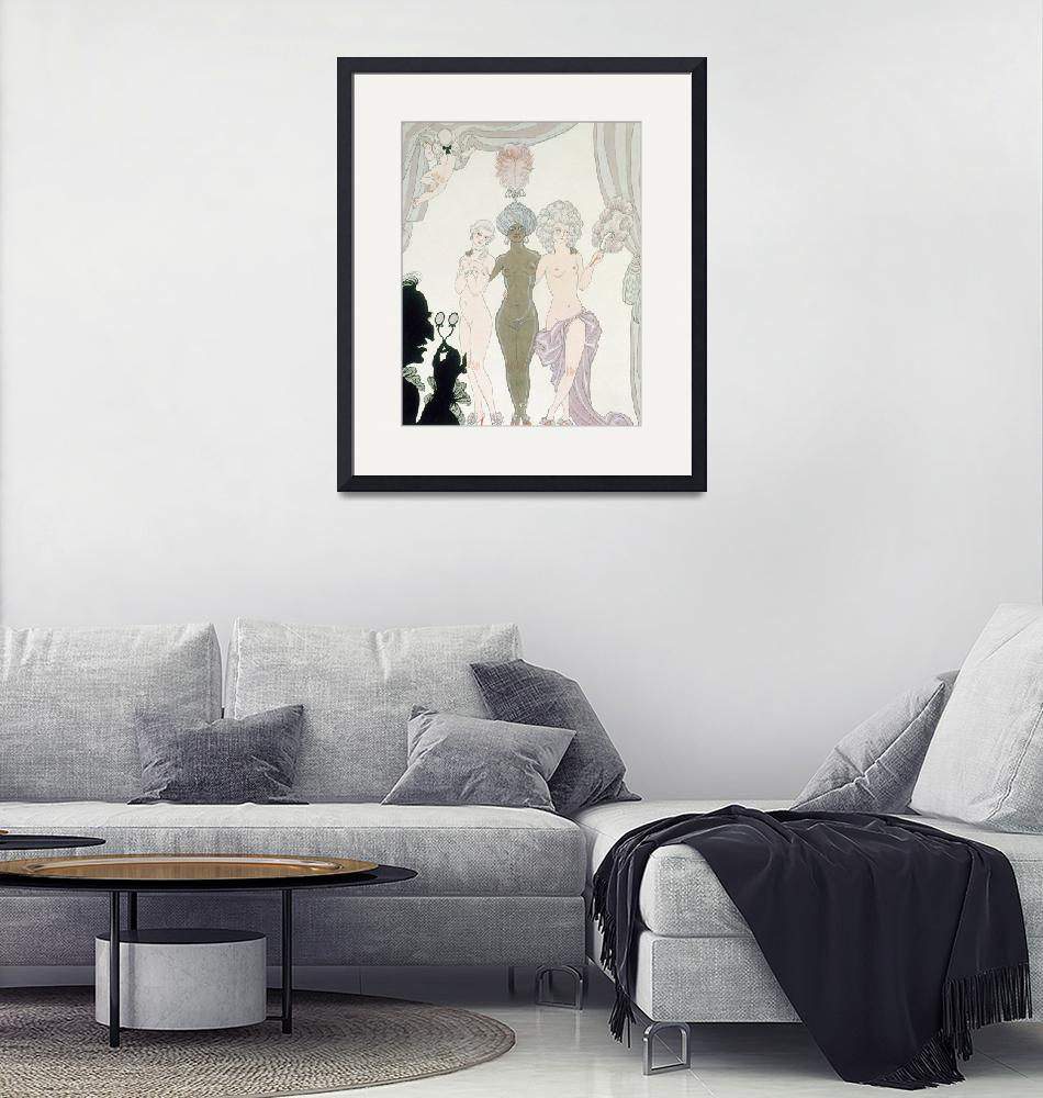 """The Three Graces (pen, ink and w/c on paper)""  by fineartmasters"