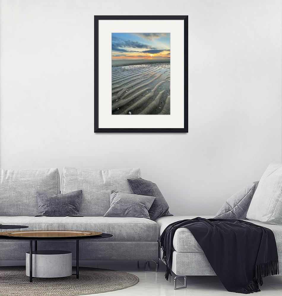 """""""Outgoing Tide at Hardings Beach"""" (2021) by ChrisSeufert"""
