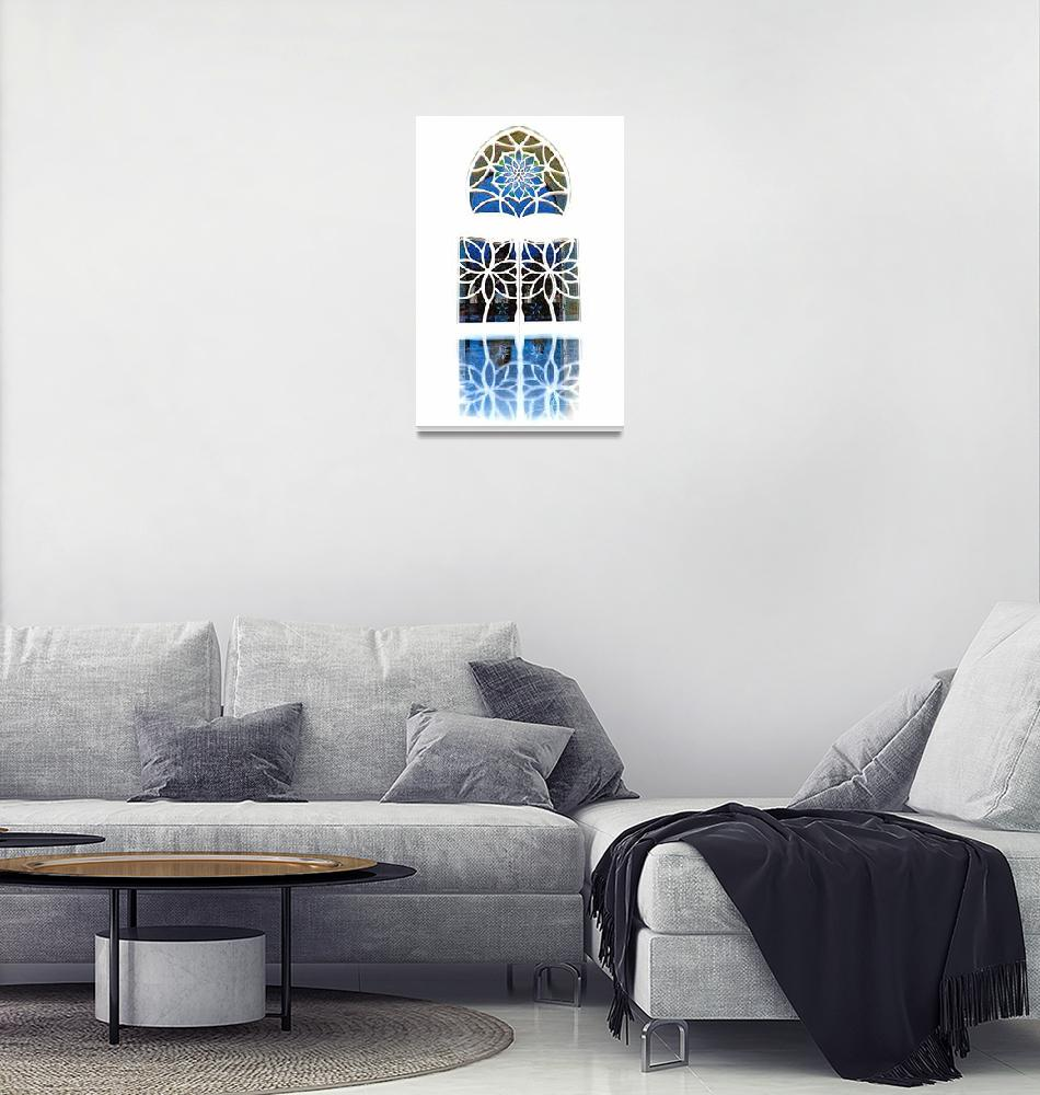 """Mosque Foyer Window 1 white""  (2010) by Markomarko"