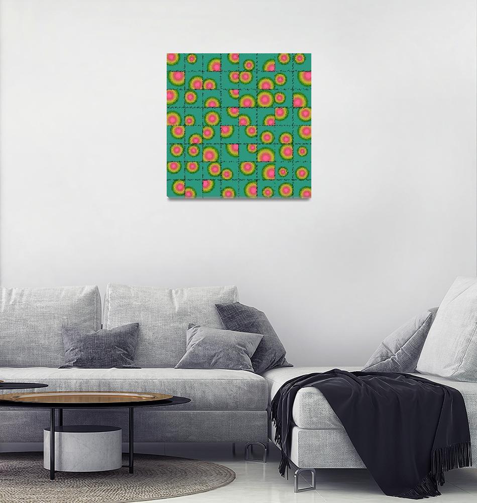 """Tiled circular gradients""  (2015) by gavila"