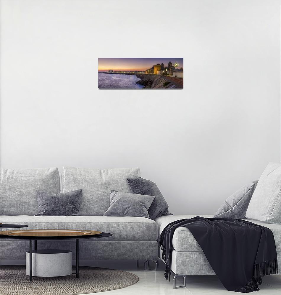 """Cadiz Panorama Spain""  by Avanzini"