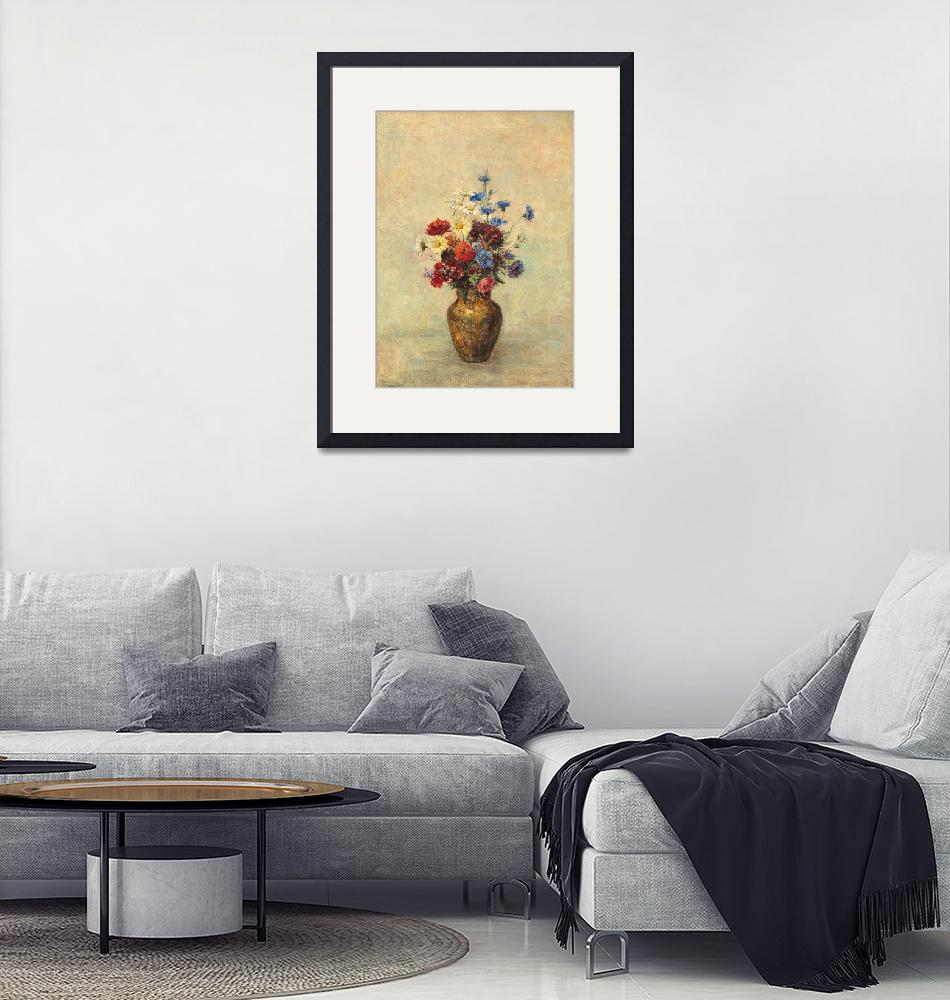 """""""Flowers in a Vase by Odilon Redon""""  by FineArtClassics"""