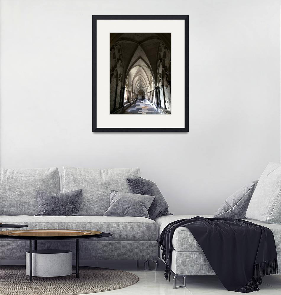 """""""Hallway in Westminster Abbey""""  (2016) by SMStegall"""