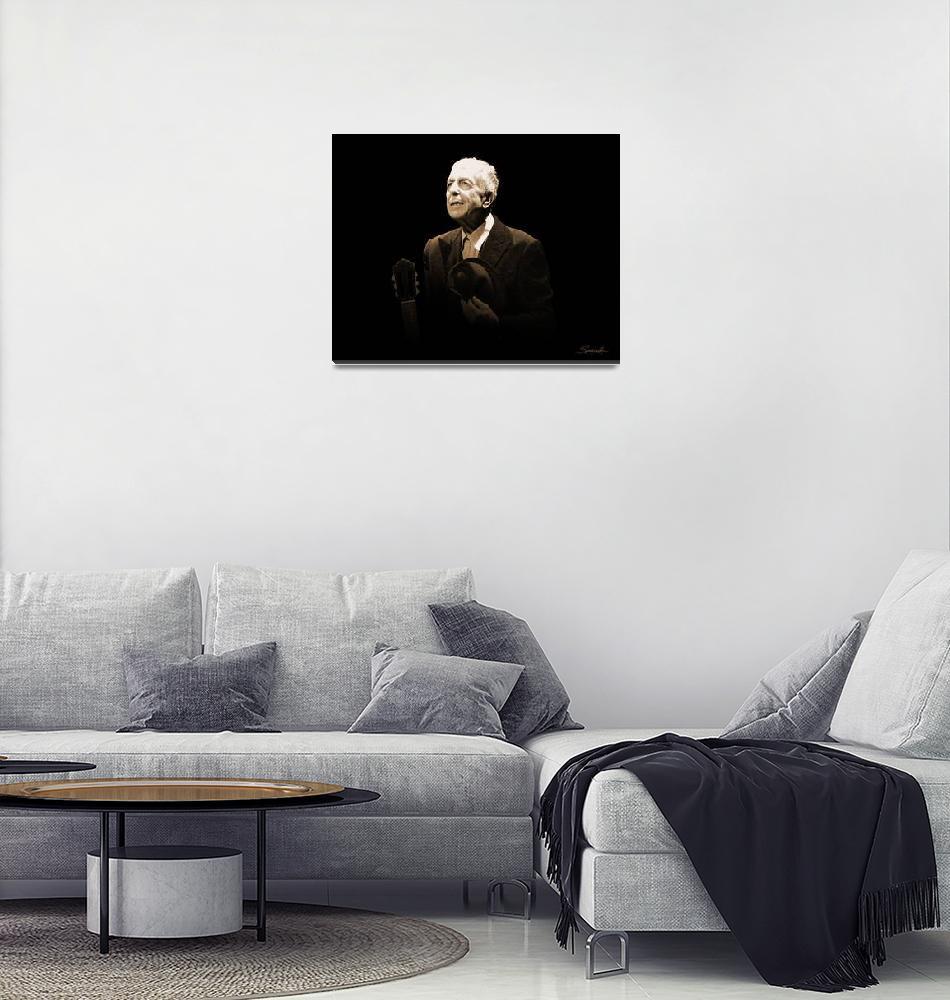 """""""Portrait of Leonard Cohen""""  (2017) by spadecaller"""