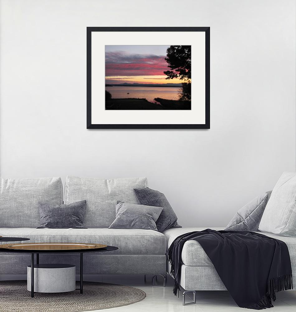 """""""Red Dawn, Westport, NY""""  (2010) by ChamplainAvenue"""